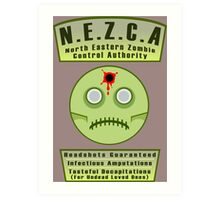 North Eastern Zombie Control Authority Art Print