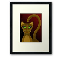 CHO-SING CAT Framed Print