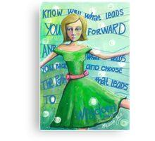 Choose the path to wisdom Canvas Print
