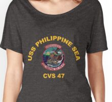 USS Philippine Sea Crest for Dark Colors Women's Relaxed Fit T-Shirt