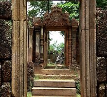 Ancient Doors of Banteay Srei - Angkor, Cambodia. by Tiffany Lenoir