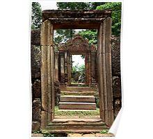 Ancient Doors of Banteay Srei - Angkor, Cambodia. Poster