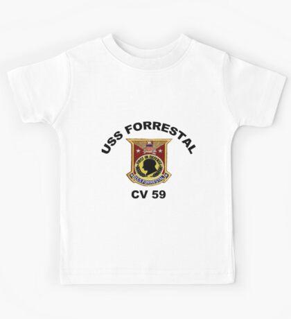 USS Forrestal (CV-59 AVT-59, CVA-59) Kids Tee