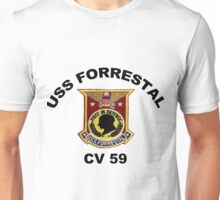 USS Forrestal (CV-59 AVT-59, CVA-59) Unisex T-Shirt