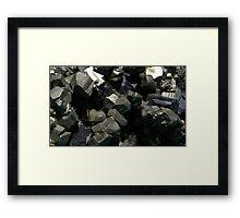 Pyrite + Sphalerite Framed Print