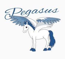 Pegasus With Title Kids Tee