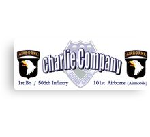 Currahee - Charlie Company - 1st Bn / 506th Infantry  -  101st Airborne (Airmobile) Canvas Print