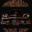 Psychobilly Rules Hot Rod by Larry Oates
