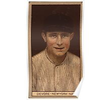Benjamin K Edwards Collection Joshua Devore New York Giants baseball card portrait 001 Poster