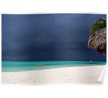 Approaching Storm - Caribbean Sea Poster