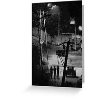 A walk after dinner.. Greeting Card