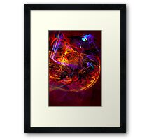Journey to the Center of the Earth -digital modern colorful abstract art print Framed Print