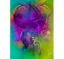 Kitten  - colorful modern digital abstract art prints Photographic Print