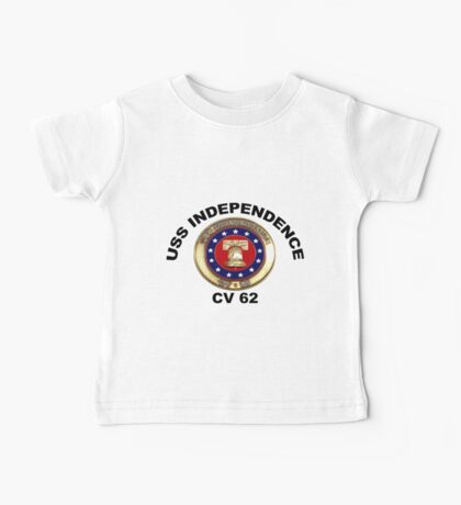 USS Independence (CV/CVA-62) Crest Baby Tee