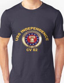 USS Independence (CV/CVA-62) Crest for Dark Colors T-Shirt