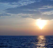 Sunset on the Lake Sticker