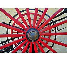 Red Wheel Photographic Print