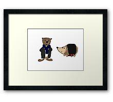 Johnhog and Otterlock Framed Print