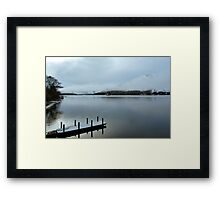 Pier on the Loch Framed Print