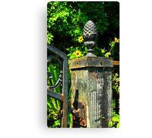 Iron Gate Post Canvas Print