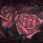 Pastel Painting Roses by Sue Deutscher