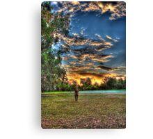 sunset walk around Canvas Print