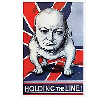 Winston Churchill -- Holding The Line! Photographic Print