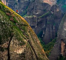 Climbers of the holy rocks - Meteora by Hercules Milas