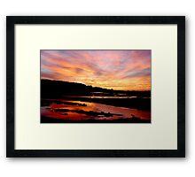 rainbow sunrise Framed Print