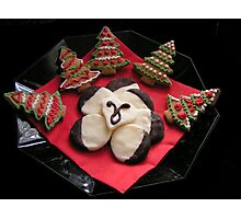 Gingerbread Christmas Trees & Mint Creams Photographic Print