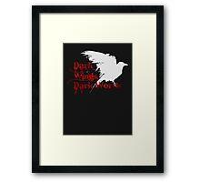 Dark Wings, Dark Words Framed Print