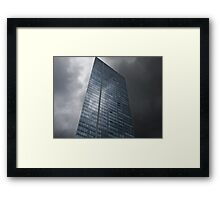 Sky and Office Building Framed Print
