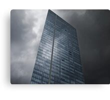 Sky and Office Building Canvas Print