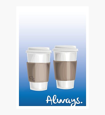 ALWAYS - a Castle celebration (with coffee) Photographic Print