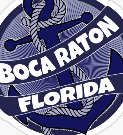 Boca Raton Florida anchor burst Sticker