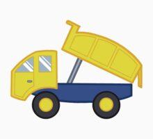 Yellow and Blue Dump Truck by SpikeysStudio