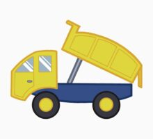Yellow and Blue Dump Truck by SpikeysStudio