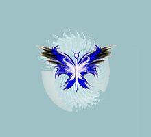 Stylized butterfly 1 by tapiona