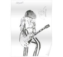 Signed Justin Hawkins Poster