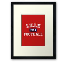 Lille Football Athletic College Style 1 Color Framed Print