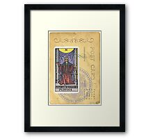 Justice Scales Tarot Card Fortune Teller Framed Print