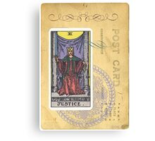 Justice Scales Tarot Card Fortune Teller Canvas Print