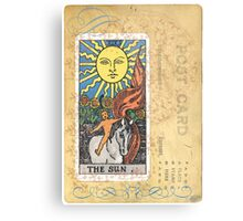 The Sun Tarot Card Metal Print