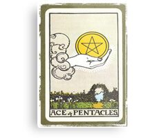 Ace Of Pentacles Tarot Card Metal Print