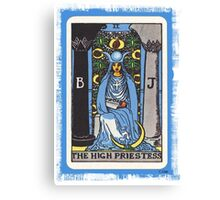 High Priestess Blue Tarot Card Fortune Teller Canvas Print