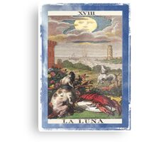 La Luna Blue Moon Tarot Card Metal Print