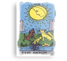 The Moon Tarot Card Blue Metal Print