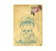 Day Of The Dead Skeleton Bones Bride Art Print