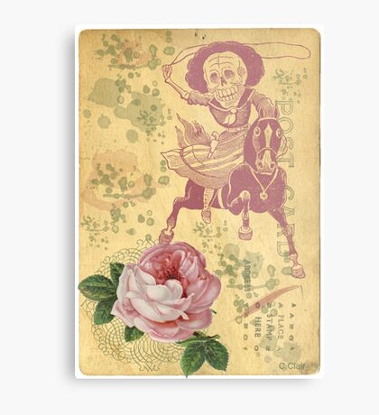 Day Of The Dead Cowgirl Cinco De Mayo Metal Print