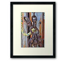 Rusted Hooks Framed Print